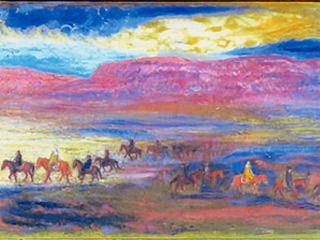 天竺に行く三蔵法師玄奘 玄奘を高昌城に迎える