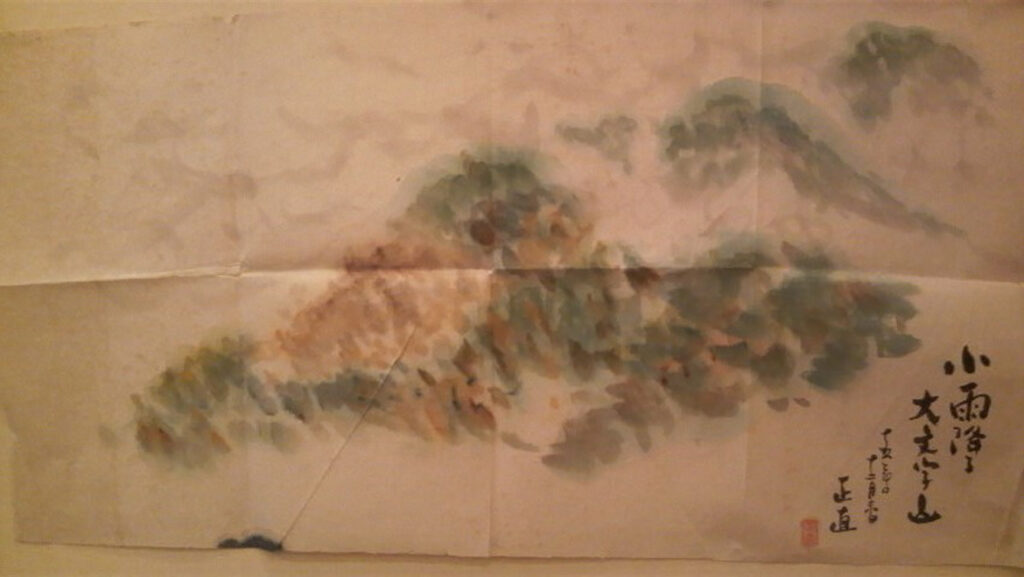「小雨降る大文字山」