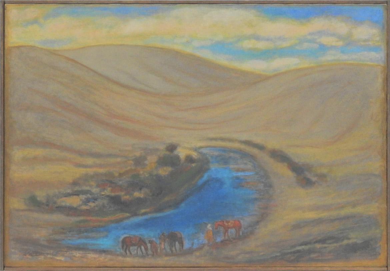 泉に馬を連れて行く 三藏法師玄奘月牙泉(敦煌)