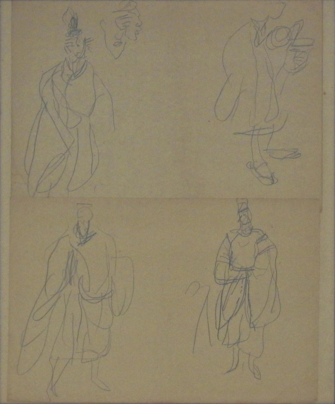 Sketch (Emperor Jinmu) 2 sheets set
