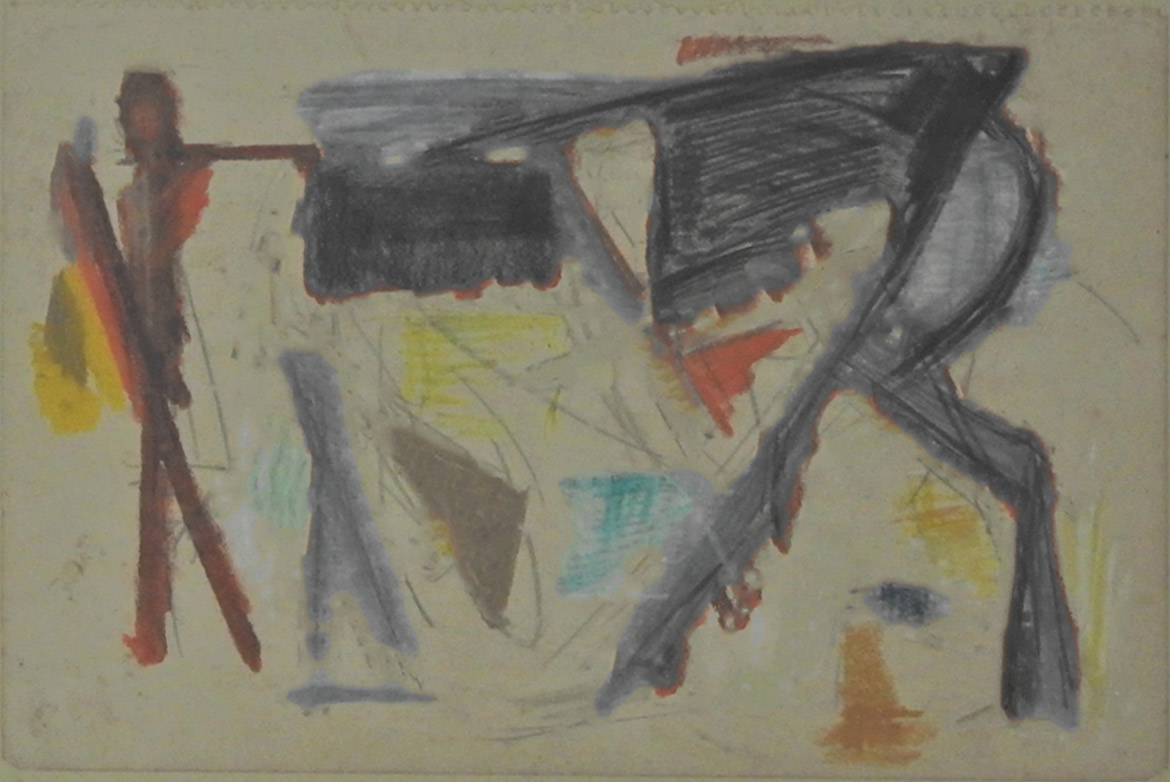 Sketch (Horse and man)